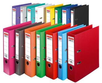 farbige Kunststoff Ordner
