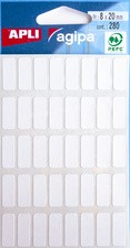 agipa Vielzweck-Etiketten, 5 x 35 mm, weiß