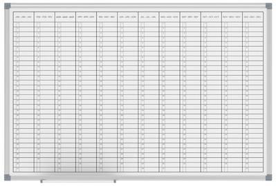 MAUL Jahresplaner horizontale Monatseinteilung, 1.200x900 mm