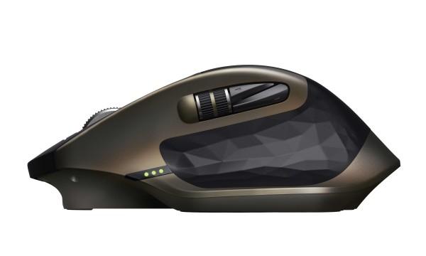 Logitech MX Master RF kabellos + Bluetooth Laser 1000DPI rechts Schwarz - Bronze Maus