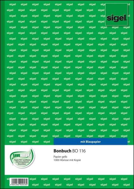 sigel Formularbuch Bonbuch, A4, 1000 Abrisse, gelb