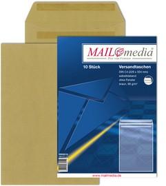 MAILmedia Versandtasche Natron braun, C5, ohne Fenster
