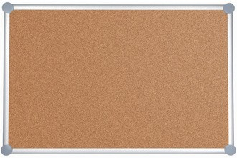MAUL Korktafel 2000, (B)1.000 x (H).1500 mm, grau