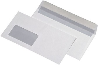 MAILmedia Briefumschläge C5, haftklebend, mit Fenster, weiß