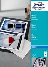 AVERY Zweckform Inkjet Folien, A4, Glossy, Stärke 0,20 mm