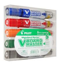 PILOT Whiteboard-Marker V BOARD MASTER, Rundspitze, 5er Etui