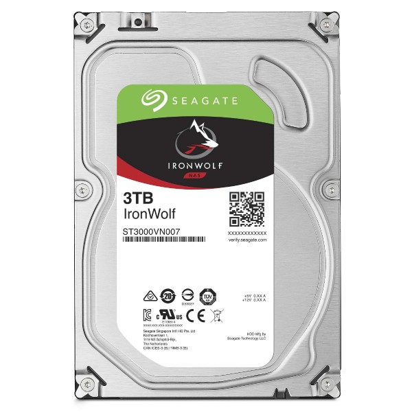 """Seagate IronWolf ST3000VN007 3,5"""" SATA 3.000 GB - Festplatte - 5.900 rpm - Intern"""