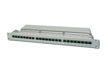 DIGITUS 19 Zoll Patch Panel Kat.6, Klasse E, 24 x RJ45, 1 HE DN-91624S