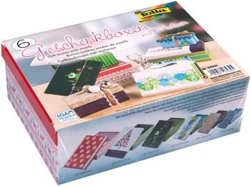"folia Geschenkboxen-Set ""Weihnachten"", bedruckt, 6er Set"