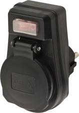 brennenstuhl Adapterstecker EDS 10 IP44, schwarz
