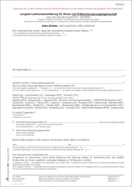 """RNK Verlag Vordruck """"Langzeit-Lieferantenerklärung"""""""