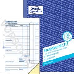 weiß Avery Zweckform® 426 Kassenbuch 100 Bl. A4 nach Steuerschiene 300