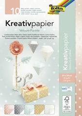 "folia Kreativpapier ""Velourpunkte"", 240 x 340 mm"
