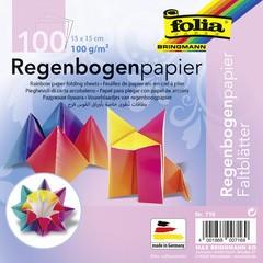 folia Regenbogen-Faltblätter, 150 x 150 mm, 100 g/qm