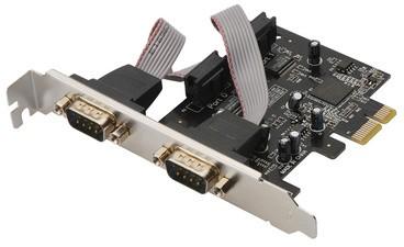 DIGITUS Serielle 16C950 PCI Express Karte, 2 Port