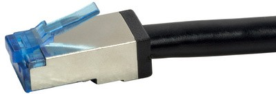 LogiLink Outdoor Patchkabel, Kat. 6A, S/FTP, 2,0 m, schwarz
