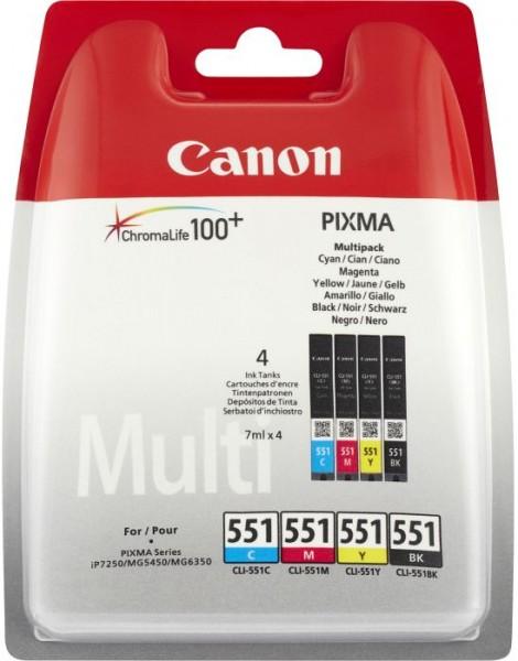 Canon CLI-551 C/M/Y/BK Multipack - Tintenpatrone Original - Schwarz, Cyan, Magenta, Matt- / PhotoSchwarz, Yellow - 7 ml