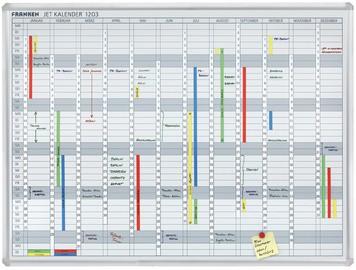 FRANKEN Planungstafel JetKalender, Jahreskalender, 12 Monate