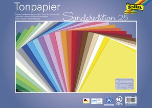 folia Tonpapier, (B)350 x (H)500 mm, 130 g/qm, sortiert