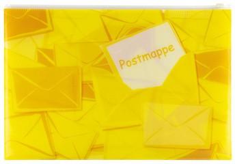 HERMA Postmappe mit Zipper, DIN A4, aus PP, gelb
