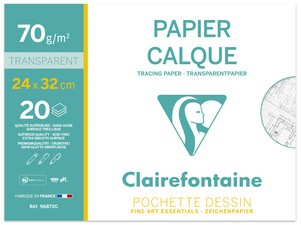 Clairefontaine Transparentpapier, 240 x 320 mm