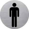 """helit Piktogramm """"WC-Herren"""", Durchmesser: 115 mm, silber"""