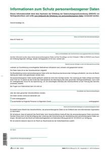 """RNK Verlag Informationsblatt DSGVO: """"Informationen zum"""