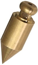 JPC Senklot, zylindrische Form, aus Messing