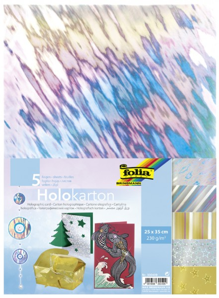 folia Holokarton, 250 x 350 mm, 230 g/qm, sortiert