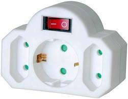 brennenstuhl Adapterstecker, 2 Euro-, 1 Schutzkontaktstecker