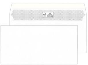 MAILmedia Briefumschläge DIN lang, FSC, haftklebend, weiß