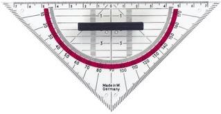herlitz Geodreieck, Hypotenuse: 160 mm, mit Griffleiste
