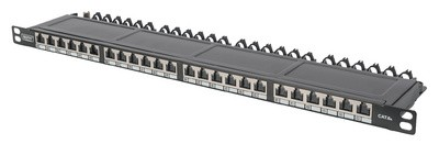 "DIGITUS 19"" Patch Panel Kat.6, Klasse EA, 24 Port, grau"