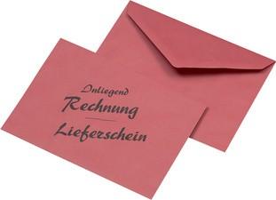 """MAILmedia Briefumschlag C6 """"Lieferschein/Rechnung"""", rot"""