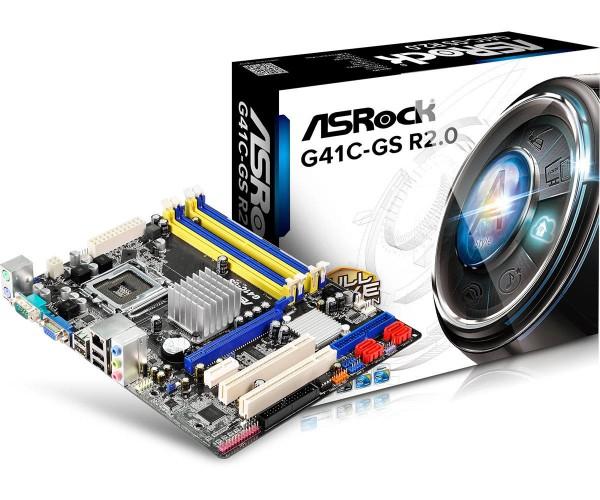 ASROCK G41C-GS R2.0 G41 LGA775 90-MXGU10-A0UAYZ