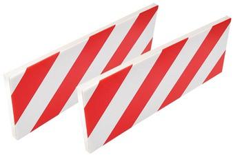 IWH Autotür-Schutzleiste für Garage, weiß / rot