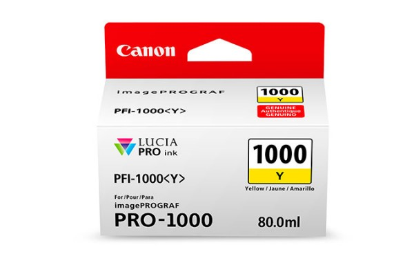 Canon PFI-1000 Y 80ml Gelb