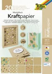 "folia Motivblock ""Kraftpapier"", 240 x 340 mm, 20 Blatt"