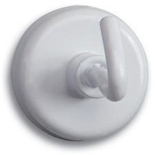 MAUL Kraftmagnet mit Haken, Durchmesser: 47 mm, weiß
