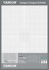 CANSON technisches Zeichenpapier, DIN A3, 90/95 g/qm