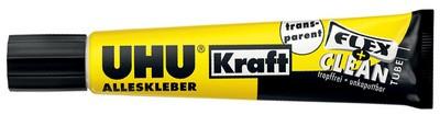 UHU Alleskleber Kraft FLEX + CLEAN, transparent, 18 g