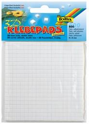 folia 3D-Klebepads, 5 x 5 mm, weiß, sortiert