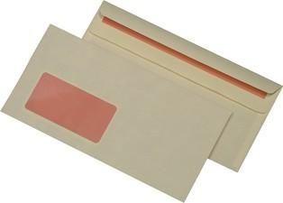 MAILmedia Briefumschlag chamois, DIN lang, mit Fenster