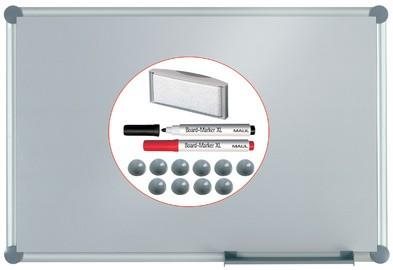 """MAUL Weißwandtafel 2000, Komplett-Set """"silver"""", 1.200x900 mm"""
