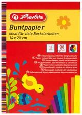 herlitz Buntpapierblock, 280 x 200 mm, Inhalt: 10 Blatt