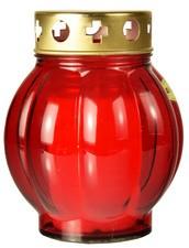 PAPSTAR Grablaterne aus Glas, Durchmesser: 75 mm, rot