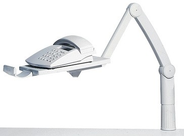 Hansa flexibler Telefonschwenkarm TSA 5020, lichtgrau
