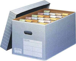 ELBA tric Archiv- und Transportbox für A4, grau/weiß