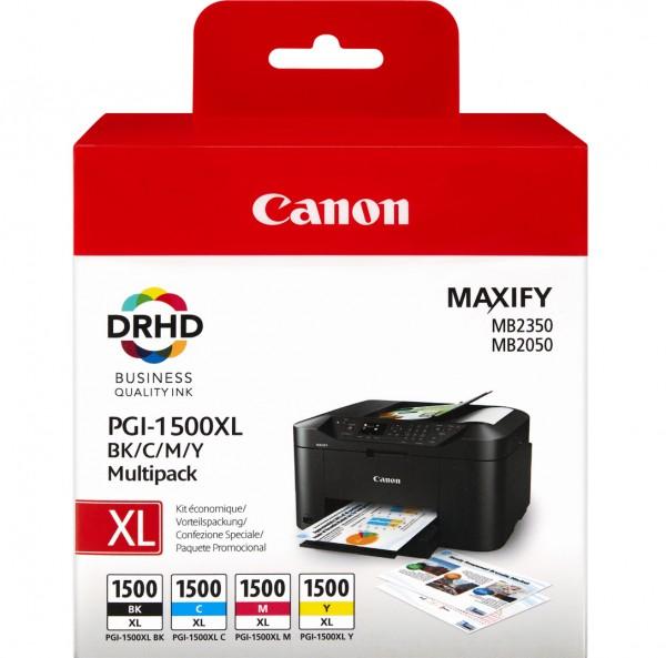 Canon PGI-1500XL C/M/Y/BK Multipack - Tintenpatrone Original - Schwarz - 34,7 ml