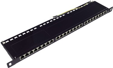 "LogiLink 19"" Patch Panel Kat.6, 24-Ports, grau, 0,5 HE"
